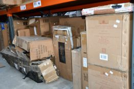 A quantity of miscellaneous household/office furniture and related.