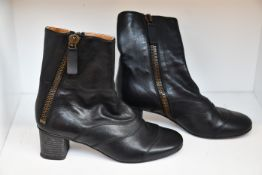 A pair of pre-owned Chloe leather boots (EU 3.5 - Some sign of wear on sole but very good