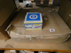 Eighteen boxes of twenty five as new Hermes RB 414 X-Procut Sanding Discs.