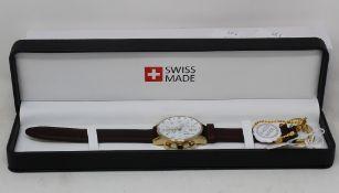 A men's as new Leica Logo Swiss Made watch (Chronograph ETA G10.212 AB PWD).