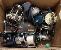 Nine pre-owned fishing/fly fishing reels.