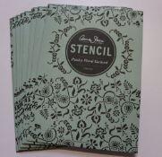 Ten as new Annie Sloan chalk paint paisley floral garland stencils.