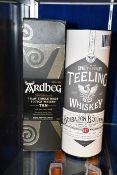 A Teeling Brabazon Bottling Irish single malt whiskey (700ml) and an Ardbeg 10yr The Ultimate