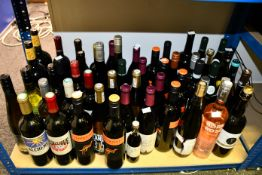 A quantity of wines to include Yellow Tail, Saint-Bris, Born Rose, l'arjorre (Approximately 50