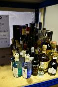 A quantity of alcohol to include vodka, gin, whisky, liqueurs and port (Approximately 25 items) (