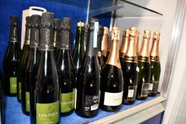 Twelve bottles of French Charles De Fere reserve Chardonnay Tradition, six bottles of Patis-Paille