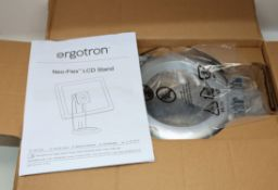 A boxed as new Ergotron 33-310-060 Neo-Flex LCD Monitor Stand (Box opened).
