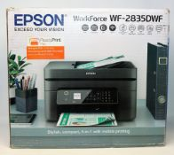 A boxed as new Epson WorkForce WF-2835DWF Colour Inkjet All-In-One Multifunction Printer (P/N: