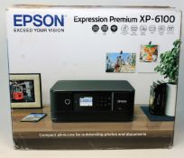 A boxed as new Epson Expression Premium XP-6100 A4 Colour Multifunction Inkjet Printer (P/N:
