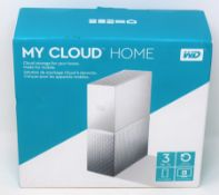 A boxed as new WD My Cloud Home 3TB NAS Drive (Box sealed).