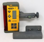 An as new Spectra Precision CR700 Magnetic Staff Mounted Detector Receiver (Box damaged).