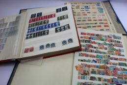 A box of mixed stamp collections, etc.