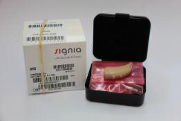 Three as new Signia contrast S + Beige (LW63153/LW63157/LW63159)hearing aids.