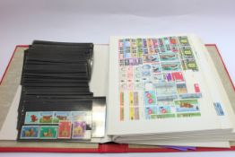 Jersey and Guernsey mint stamp stock in multiples 1969-1980's.
