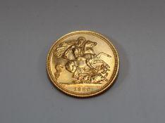 A 1980 gold sovereign.