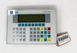 A pre-owned Siemens COROS OP15 Operator Panel (P/N: 6AV3515-1MA22-1AA0) (Untested, sold as seen).