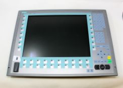 A pre-owned Siemens Simatic 15 K 677/877 Panel PC (P/N: 6AV7873-0BC20-1AC0 A5E00747065) (Untested,