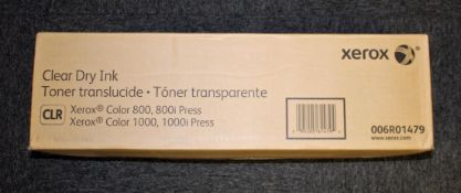 A boxed as new Xerox Color 800/1000 Clear Toner (006R01479) (Box sealed).