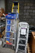 Thirteen ladder/step ladders (Various sizes).
