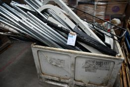 A stillage containing metal and related items (Stillage not included).