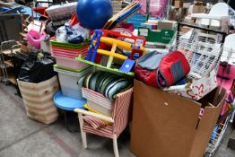 A large quantity of assorted miscellaneous items to include toys, games, puzzles, office chairs,