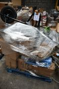 A pallet of assorted garden/pet and other related items.