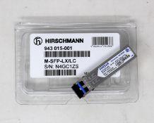 An as new Hirschmann Finisar 943 015-001 M-SFP-LX/LC SFP Fibreoptic Gigabit-Ethernet Transceiver