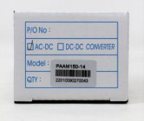 Five boxed as new TT Electronics Power Partners PAAM150-12 AC/DC ITE & Medical Power Modules.
