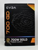 A boxed as new EVGA 700 GD 80+ Gold Power Supply (Box damaged, sealed).