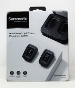 A boxed as new Saramonic Blink500 Pro B1 (TX+RX) Dual Channel 2.4G Wireless Microphone System (