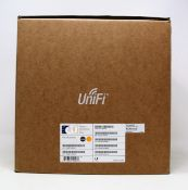 A boxed as new Ubiquiti UniFi AP AC Pro Indoor / Outdoor Access Point 5 Pack (P/N: UAP-AC-PRO-5) (
