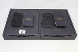 Two boxed as new Greenwich Blake Leather Cases for iPhone 12 mini.
