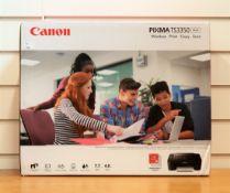 A boxed as new Canon Pixma TS3350 wireless printer/copier/scanner in black