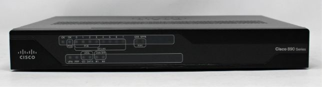 A pre-owned Cisco 890 Series Integrated Services Router (PN: 897VA) (some minor damage to casing