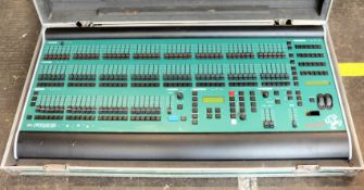 A pre-owned Bullfrog Zero-88 Lighting Desk in flight case (Damaged, untested. Sold as seen).