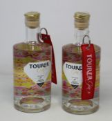 Five bottles of Tourer Mango & Hibiscus small batch gins (5 x 700ml) (Over 18's only).