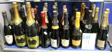 A quantity of assorted champagne and sparkling wines to include Canti Prosecco, B & L champagne,