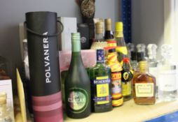 Assorted spirits and alcohol to include Hennessy cognac, Pazo Senorans Orujo De Galicia, Uganda