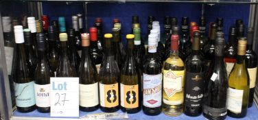 A quantity of assorted red/white wines to include Jam Shed, Chardonnay, Sauvignon Blanc (