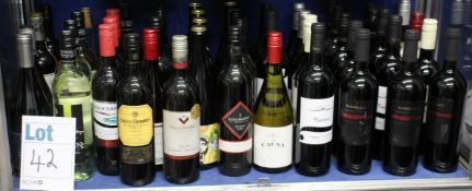 A quantity of assorted red/white wines to include La Causa 2016, Fantinel Cabernet Sauvignon and Two