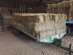 48 Flat 8 Bales only Meadow Hay in a barn on a trailer. L. Radford Esq., Geaves Farm, PE27 5HG