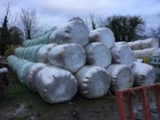 20 Welger 4ft Round Bales only Meadow Silage Wrapped Outside P A Cade Contractors, Paddock Farm, PE1