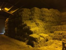 500 Conventional Flat 8 Bales approx 2019 Rye Grass Hay in a barn. Waresley Farms Ltd., Crooked Bill