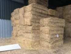 55 Quadrant Bales Only Wheat Straw in a barn. CE Schwier and Son, Burleigh Hill Farm, PE27 3LY