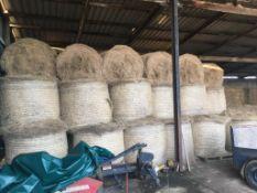 70 Claas Round Bales Approx. Meadow Hay in a Barn. R T Franklin, Hoo Farm, MK44 3UB