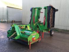 2014 Baselier 5.5m HFT6LKB550 Hydraulic folding topper with 2.2m 2LKAB220 PTO driven front topper.