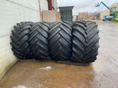 2 x 750/45-30.5 rear and 2 xof 600/55-30.5 front Trelleborgwheels and tyres to fit Fastrac