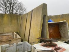 5No concrete 'A' shape panels 2.35m x 1.20m, sold in situ, buyer to remove Please note that this lot