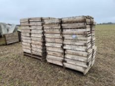 Quantity of approx 400 chitting trays This lot is located at South House Farm, Legbourne, Louth LN11