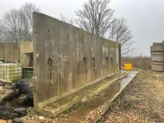 31No concrete 'L' shape panels 2.55m x 0.90m, sold in situ, buyer to remove Please note that this lo